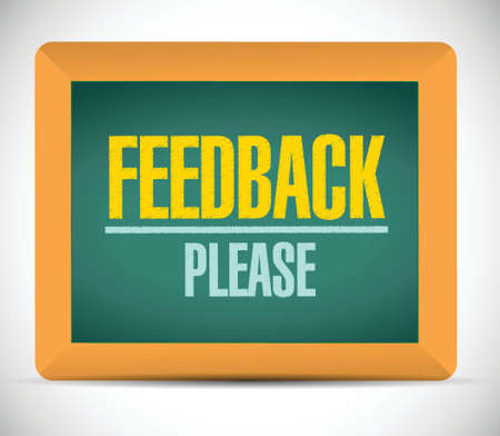 feedback please sign illustration design over a white background Çizim