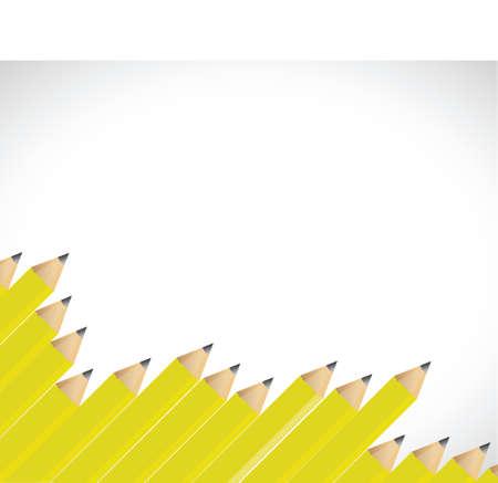 pencils border illustration design over a white background Illustration