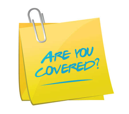 are you covered memo post illustration design over a white background