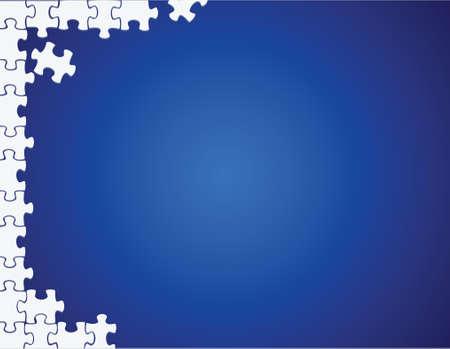 briefing: puzzle side border illustration design over a blue background Illustration
