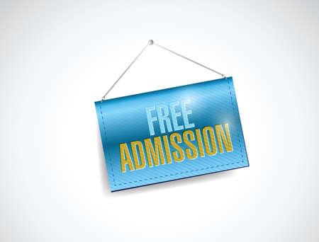 gratis toegang hangende banner illustratie ontwerp op een witte achtergrond Stock Illustratie