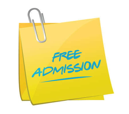 free admission memo illustration design over a white background