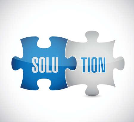 problem solution: solution puzzle illustration design over a white background Illustration