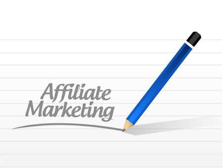affiliate marketing message illustration design over a white background illustration