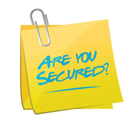 are you secured memo post illustration design over a white background