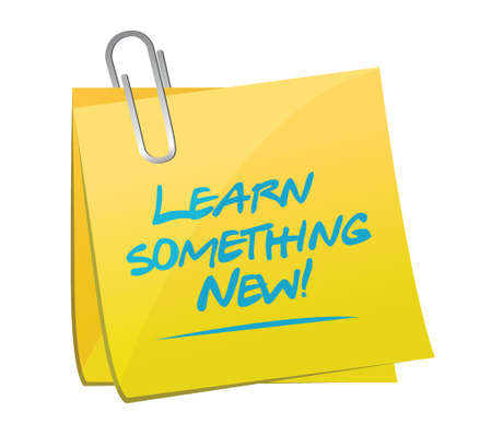 new life: learn something news memo post illustration design over a white background