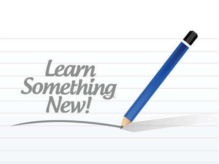 superacion personal: aprender algo de noticias, ilustraci�n, dise�o sobre un fondo blanco