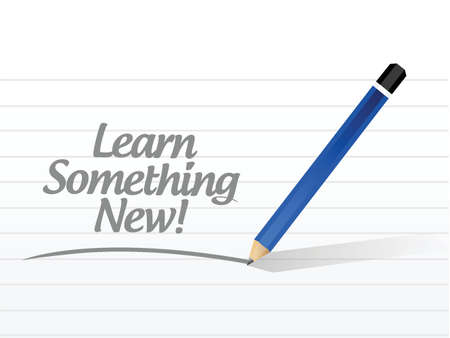 self development: learn something news illustration design over a white background