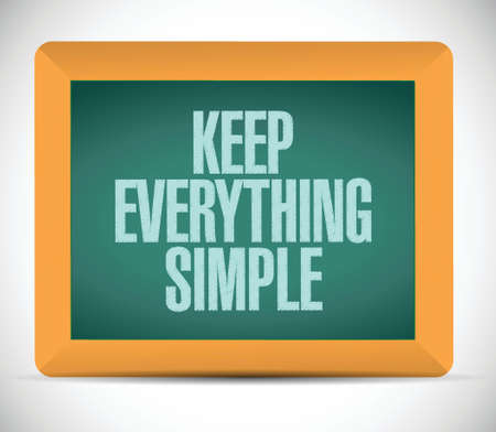 understandable: keep everything simple illustration design over a white background