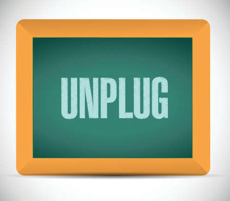 disconnection: unplug sign message illustration design over a white background Illustration