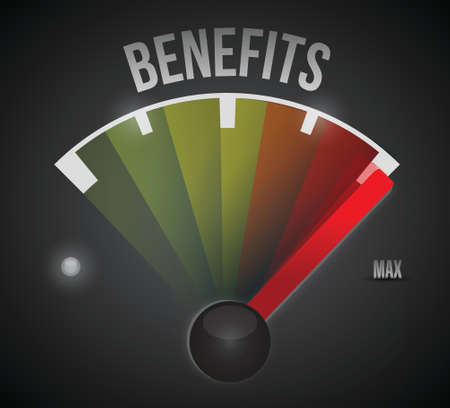 benefits to the max illustration design over a black background Stock fotó - 32438805