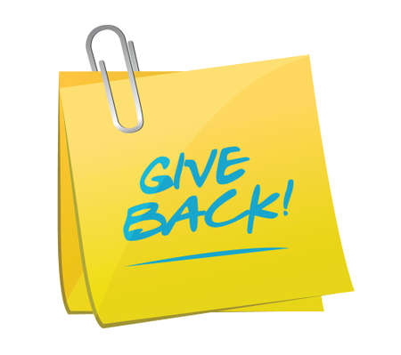 give: give back post memo illustration design over a white background