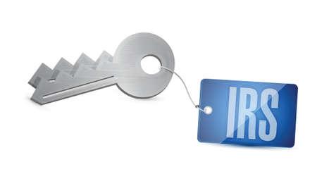 internal revenue service: irs key illustration design over a white background