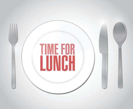 time for lunch restaurant illustration design over a white background