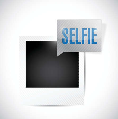 smart phone woman: selfie photo illustration design over a white background
