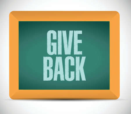 give: give back message illustration design over a white background Illustration