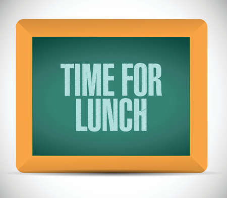 time for lunch message illustration design over a white background Illustration