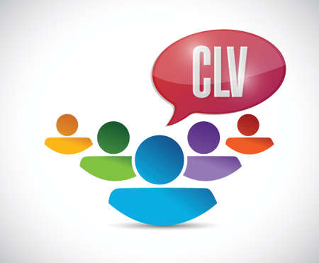 clv message illustration design over a white background Illustration