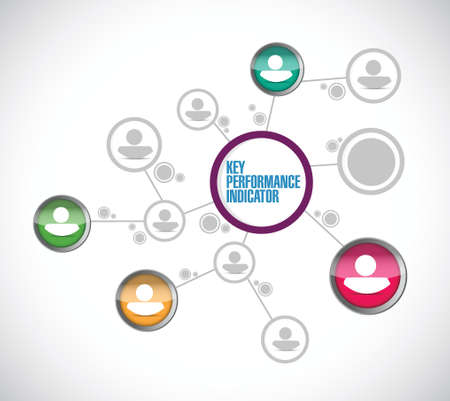 key performance indicator network illustration design over a white background