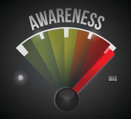awareness meter illustration design over a black background