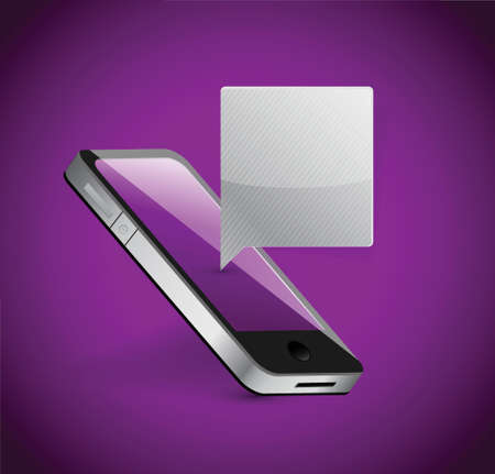 cellphone: smartphone communication concept illustration design over a purple background
