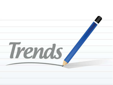 tendency: trends message illustration design over a white background Illustration