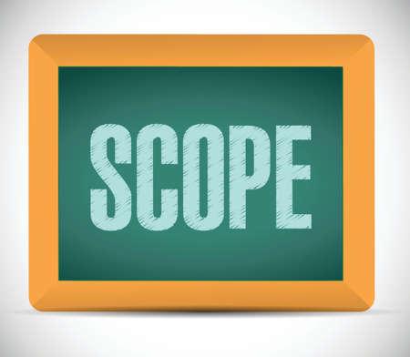 scope sign illustration design over a white background Vector