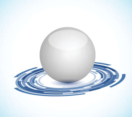 technology concept illustration design over a white background Vector