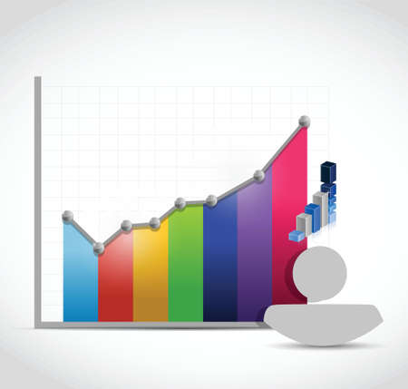 people color graph color illustration design over a white background