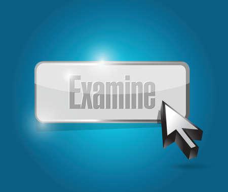 examine button illustration design over a blue background Vector