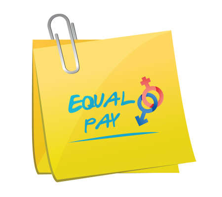 underpaid: equal pay memo post illustration design over a white background