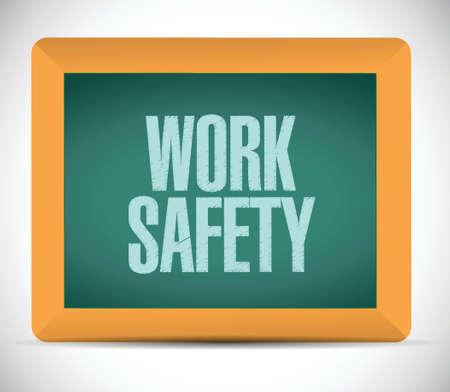werken veiligheid bericht illustratie ontwerp op een witte achtergrond Stock Illustratie