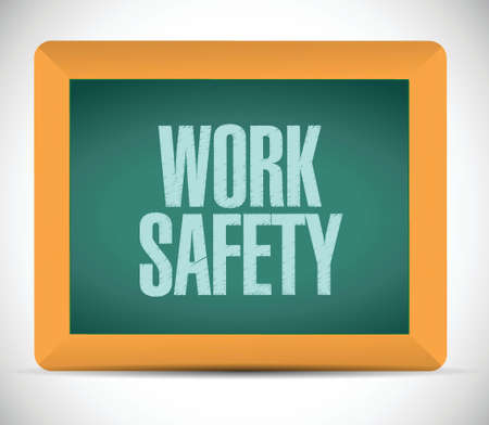 work safety message illustration design over a white background Vector