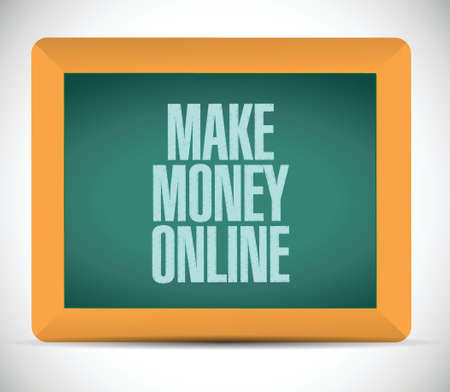 money online: make money online sign illustration design over a white background Illustration