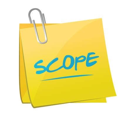 scope: scope memo post illustration design over a white background Illustration