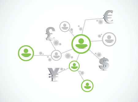 people monetary concept link illustration design over a white background