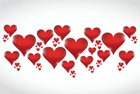softness: love hearts illustration design over a white background Illustration