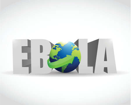 ebola globe sign illustration design over a white background