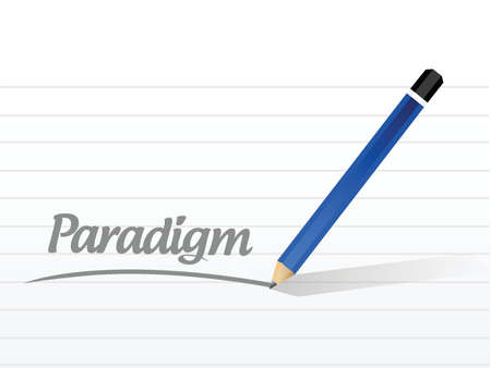adapting: paradigm message sign illustration design over a white background