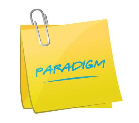 paradigma: paradigma de dise�o ilustraci�n memo sobre un fondo blanco