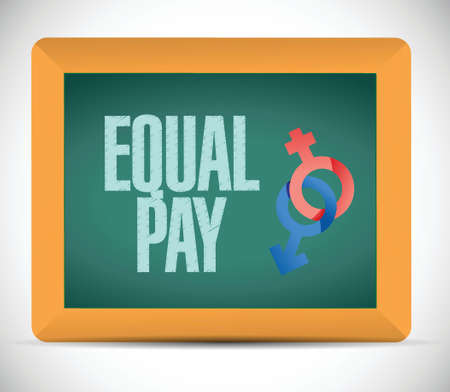 equal opportunity: equal pay message illustration design over a white background