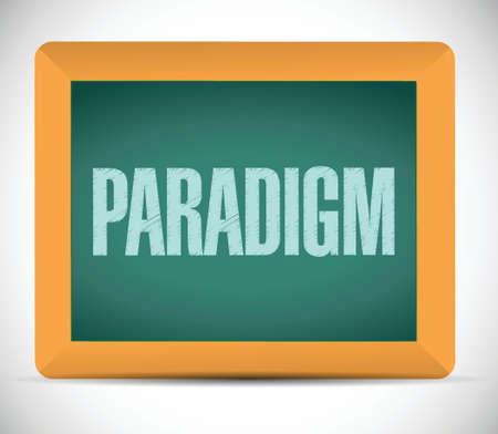 paradigm: paradigm sign illustration design over a white background