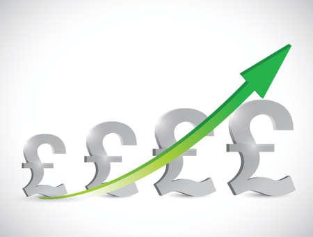 ex: business graph concept illustration design over a white background Illustration