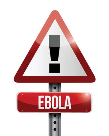 exitus: ebola warning sign illustration design over a white background Illustration
