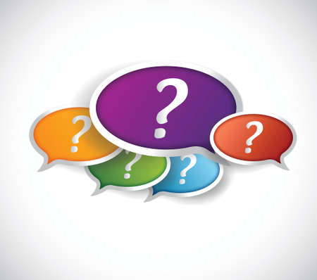 question mark icon: multiple question marks inside bubbles. illustration design over a white background Illustration
