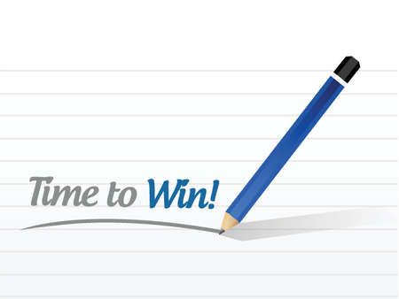 time to win message illustration design over a white background
