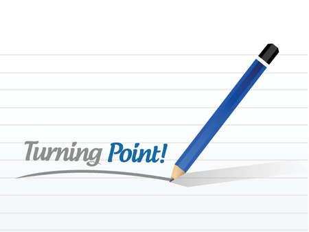 stimulus: turning point sign illustration design over a white background