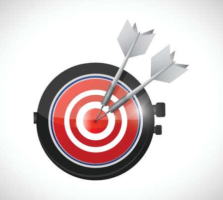 watch target illustration design over a white background Illustration