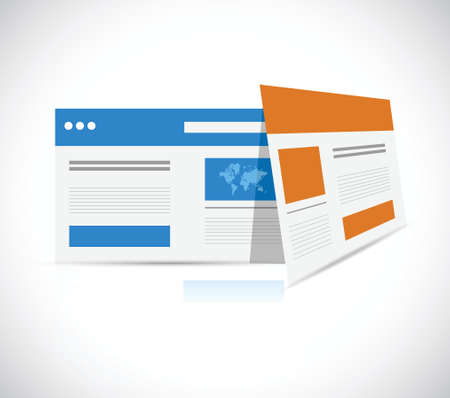 web browser: web templates browser illustration design over a white background