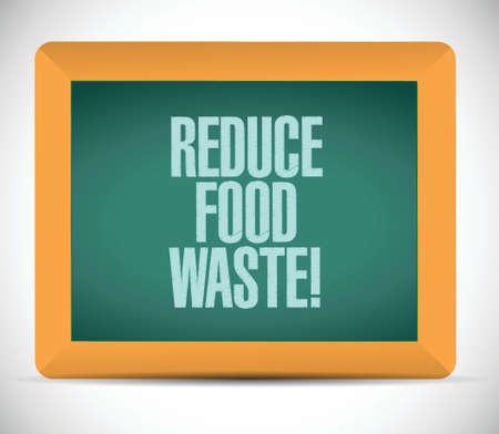 compost: reduce food waste message illustration design over a white background